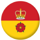 Hampshire County Flag 58mm Button Badge